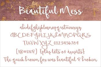 Beautiful Mess Font for Commercial Use