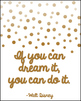 Motivational Quote Posters ~ Beautiful with Metallic Foil Dots! (Set of 8)