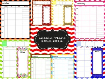 Beautiful Printable Lesson Plan Book for Teachers
