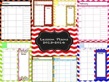 Beautiful Printable Lesson Plan Book for Teachers