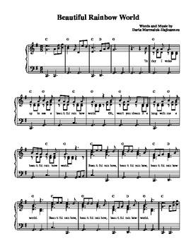 """Beautiful Rainbow World"" (Acoustic Version) - Sheet Music"