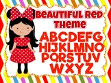 Beautiful Red Theme: 100 images of Alphabet, Numbers and Symbols