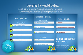 Beautiful Reward Posters for your Classroom