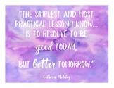Beautiful Watercolor Quote FREEBIE! Inspirational quote encouragement motivation