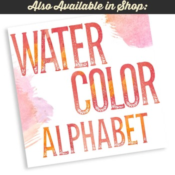 Beautiful Watercolor Textured Alphabet Letters Clipart
