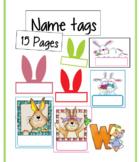Beautiful bunny name tags