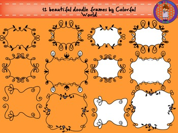 Beautiful doodle frames