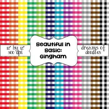 Beautiful in Basic: Gingham Digital Paper Pack