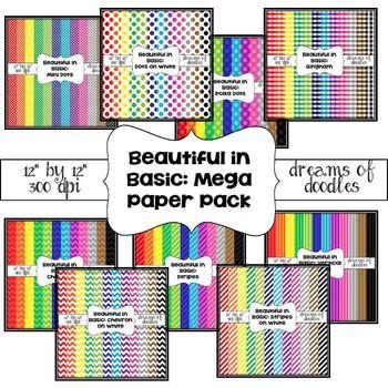 Beautiful in Basic: Mega Digital Paper Pack