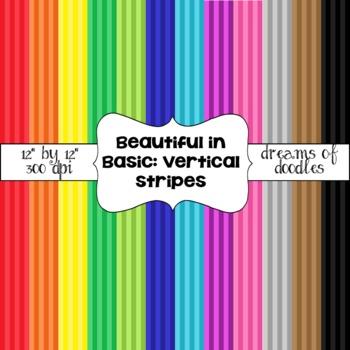 Beautiful in Basic: Vertical Stripes Digital Paper Pack