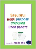 Beautiful multipurpose coloured lined papers