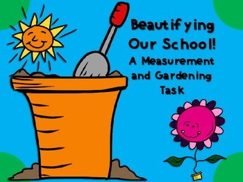 Beautifying Our School! {An Area, Perimeter, and Graphing Task}
