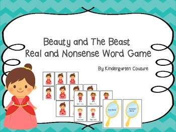 Beauty And The Beast Real and Nonsense Word Game