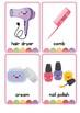 Beauty Items Vocabulary Flash Cards