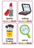Beauty Items Vocabulary Flash Cards