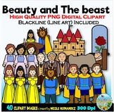 Beauty and The Beast Clip Art for Personal and Commercial Use