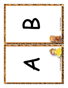 Beauty and The Beast Matching Number Quantity and Alphabet Match Set