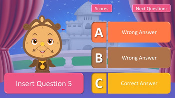 Beauty and The Beast PowerPoint Classroom Template Quiz Game