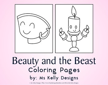 Beauty and the Beast 10 Coloring Pages Set