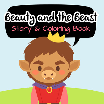 NO PREP! Beauty and the Beast Fairy Tales Story and Coloring Book