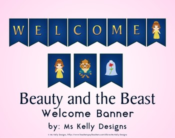 Beauty and the Beast Belle Welcome Banner for Classroom
