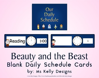 Beauty and the Beast Blank Daily Schedule Cards