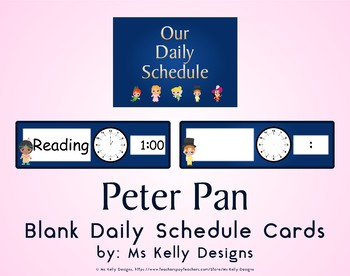 Peter Pan Blank Daily Schedule Cards