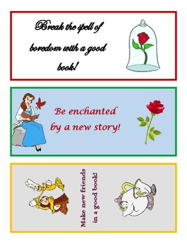 Beauty and the Beast Bookmarks