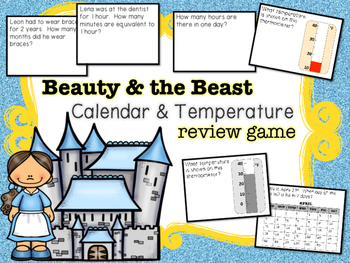 Beauty and the Beast Calendar & Temperature Review Game