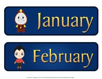 Beauty and the Beast Classroom Calendar Set