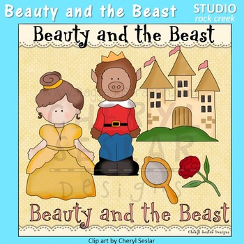 Beauty and the Beast Color Clip Art  C. Seslar