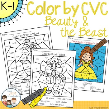Beauty and the Beast Color by CVC Word