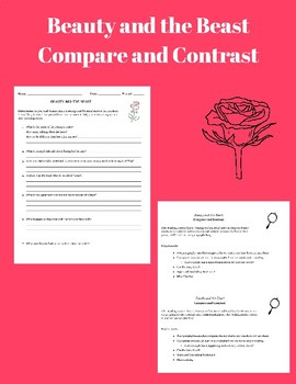 Beauty and the Beast Compare and Contrast
