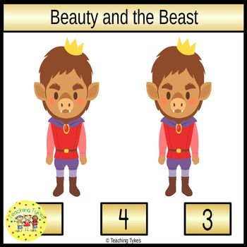 Beauty and the Beast Clip Task Cards