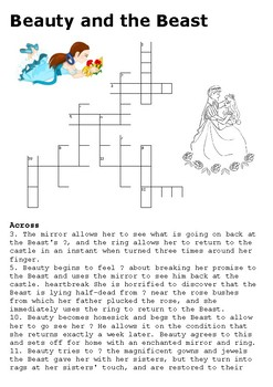 Beauty and the Beast Crossword