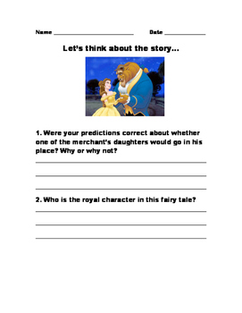 Beauty and the Beast Fairy Tale Module 2nd grade EngageNY
