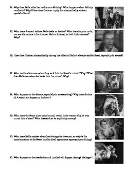 Beauty and the Beast Film (1946) Study Guide Movie Packet