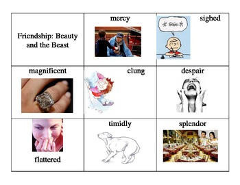 Beauty and the Beast Imagine It! Vocabulary Cards
