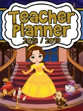 Beauty and the Beast Inspired 2018-2019 Teacher Planner REFILL (1 and 1/2 Hrs.)