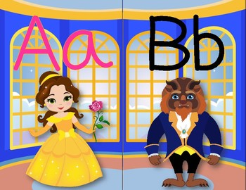 Beauty and the Beast Inspired Alphabet