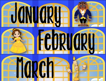 Beauty and the Beast Inspired Calendar Set