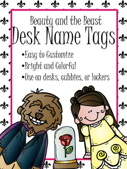 Beauty and the Beast Name Tags