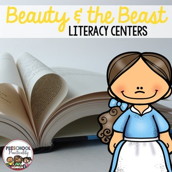 Beauty and the Beast Preschool Literacy Centers