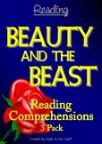 Beauty and the Beast Reading Comprehensions - 3 Pack