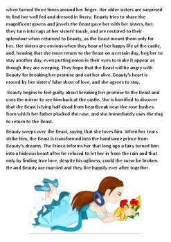 Beauty and the Beast Story Handout