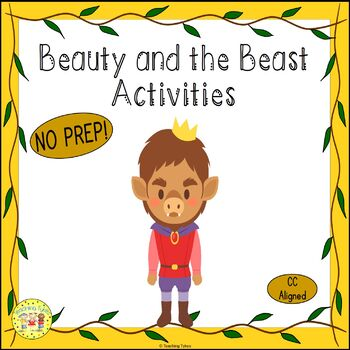 Beauty and the Beast Fairy Tale Worksheets Activities Game