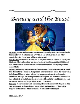 beauty and the beast informational article movie facts plot review