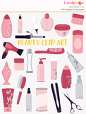 Beauty products symbols clipart, body care clipart (LC05)