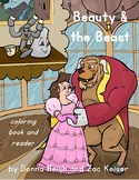 Beauty & the Beast Coloring Book and Reader