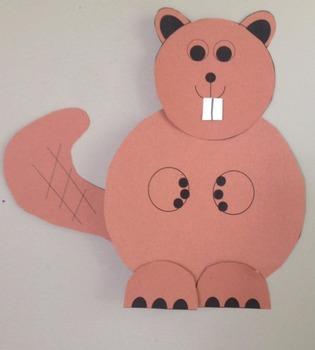 Beaver Cut and Paste Craftivity